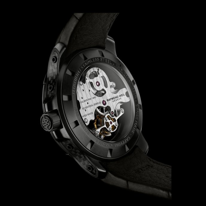 Raymond Weil Nabucco Cello Tourbillon 1842 BSF 20001 - watch back view