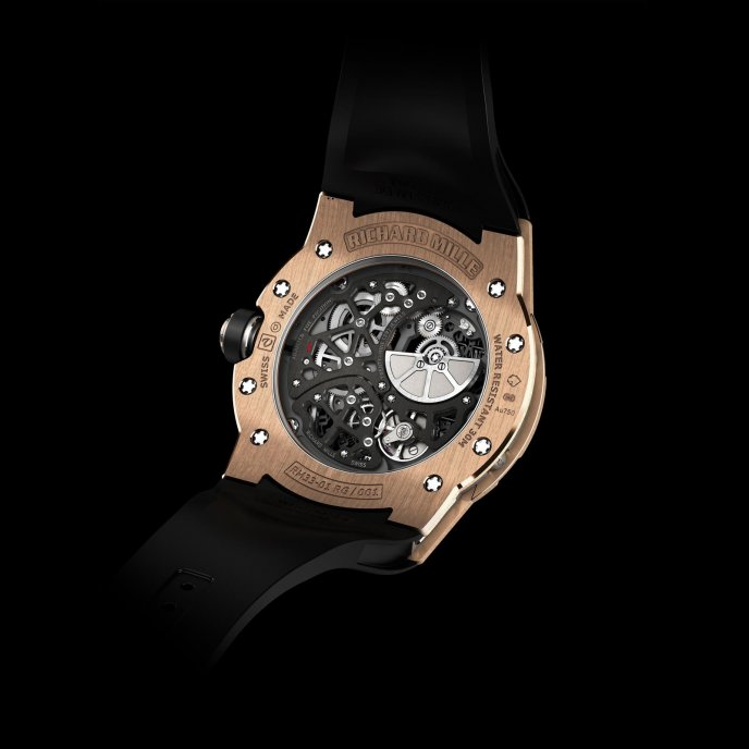 Richard Mille RM 33-01 watch back view