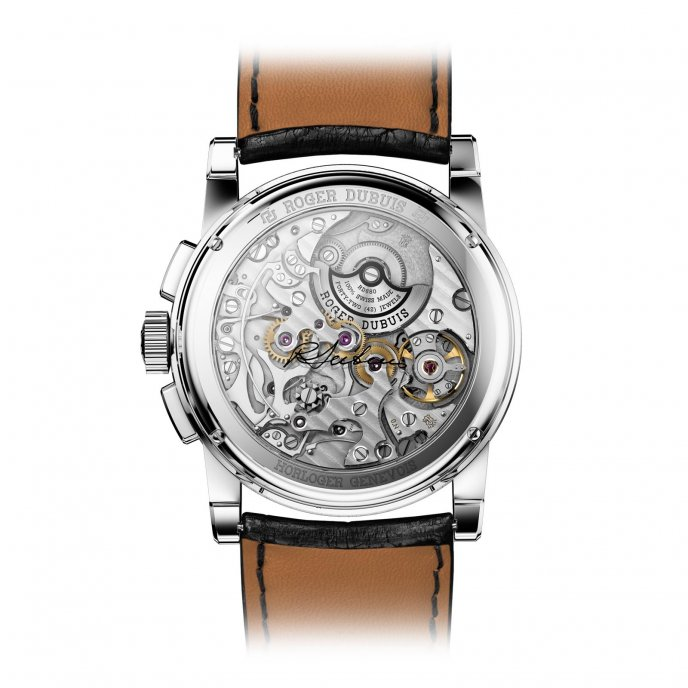Roger Dubuis Hommage Chronographe or gris RDDBHO0567 - watch back view