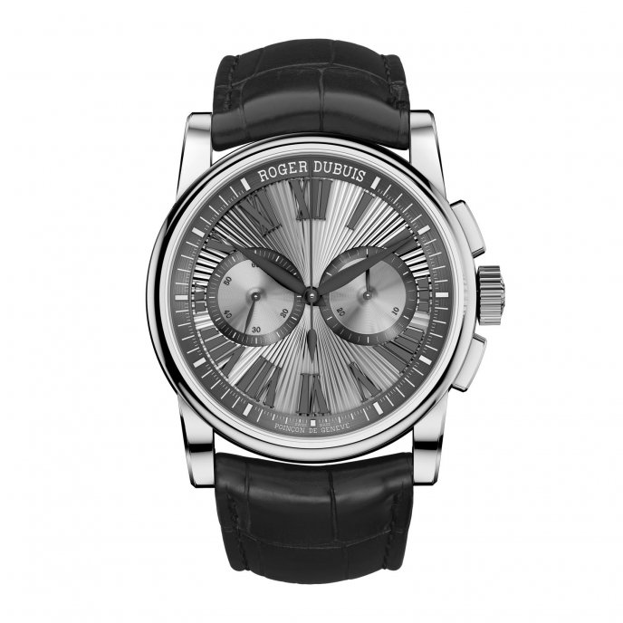Roger Dubuis Hommage Chronographe or gris RDDBHO0567 - watch face view