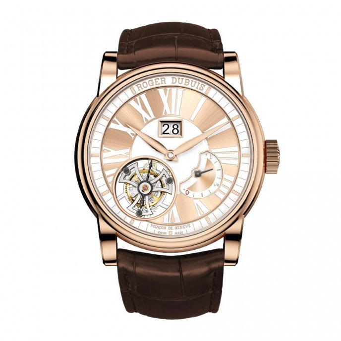 Roger Dubuis Hommage Tourbillon Volant Tribute to Mr. Roger Dubuis RDDBHO0568 - face view
