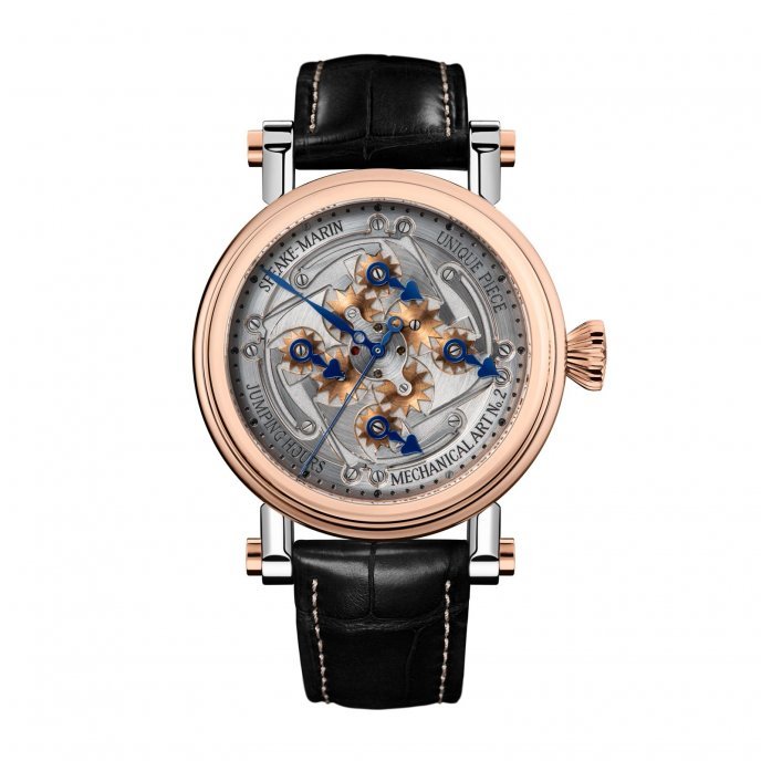 Speake-Marin Cabinet des Mystères Jumping Hours watch face view