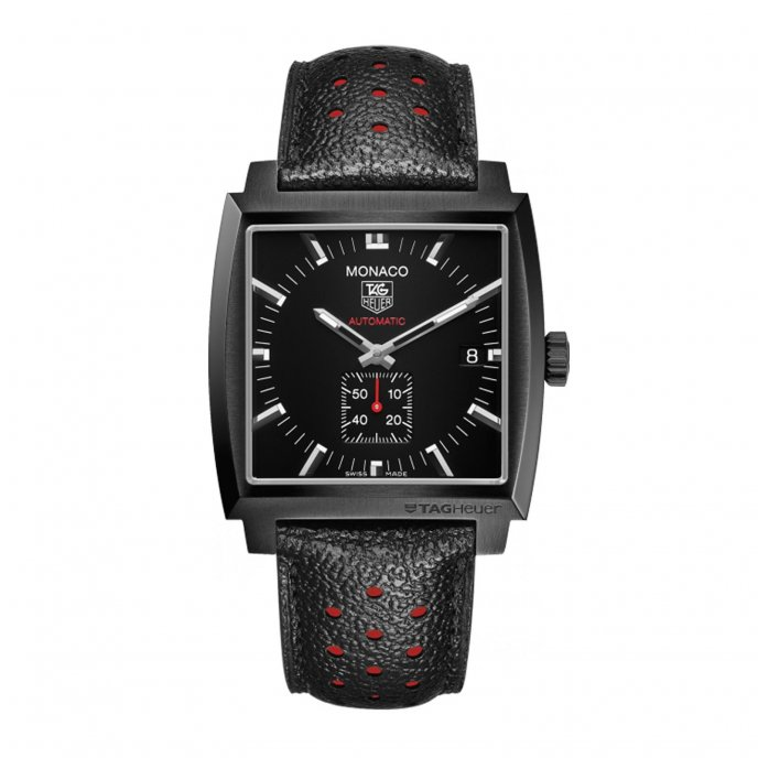 Tag Heuer Monaco 37mm Calibre 6 Automatic 2014 Full Black Watch-face-view