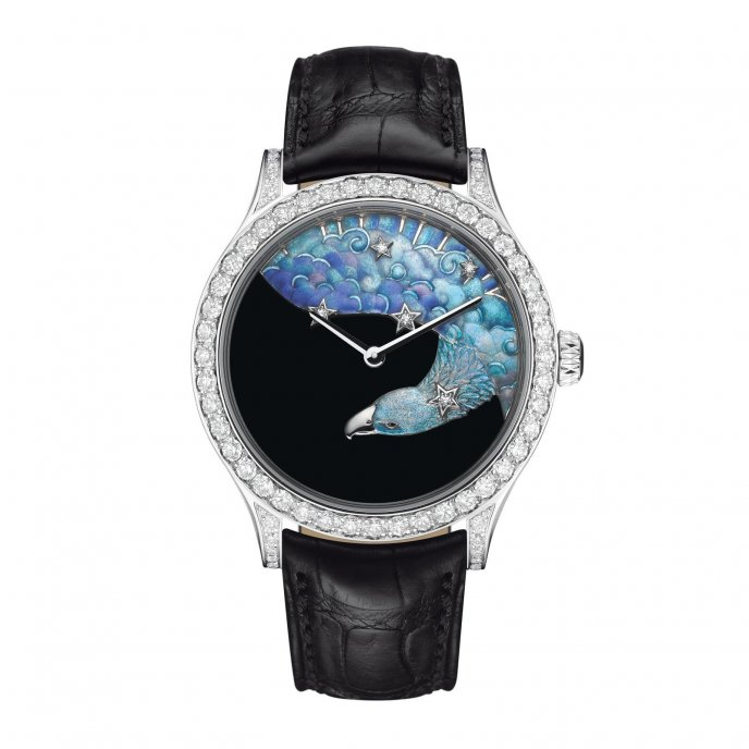 Van Cleef & Arpels Cadran Extraordinaire Midnight Constellation Aquila - watch face view