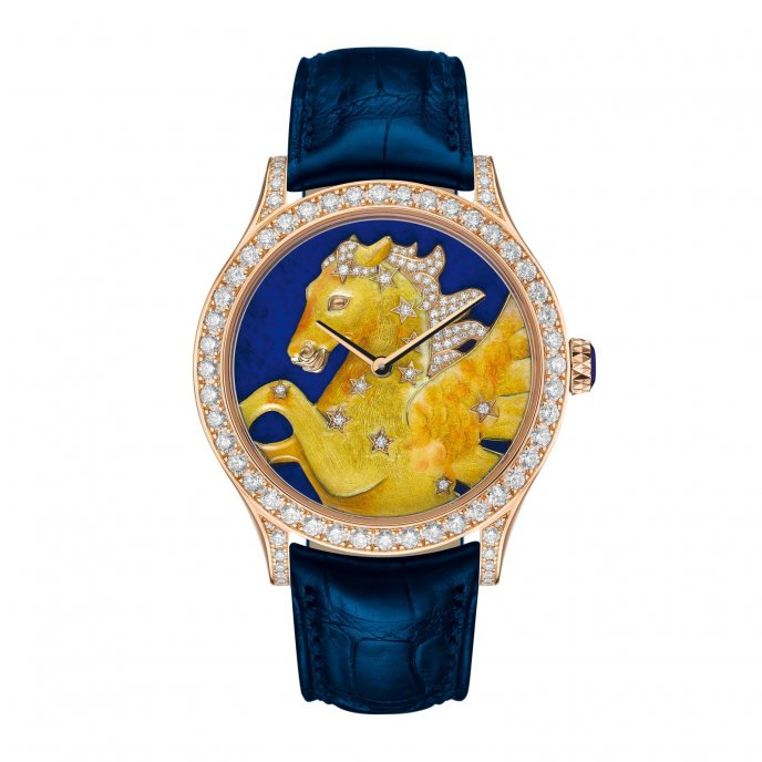 Van Cleef & Arpels Cadran Extraordinaire Midnight Constellation Pegasus - watch face view