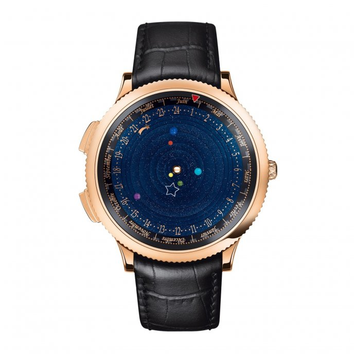 Van Cleef & Arpels Complication Poétique Midnight Planétarium - face view