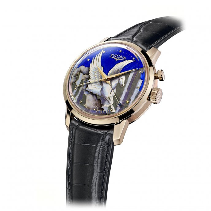 Vulcain 50s Presidents' Pegasus on the Mountain 200 550.318L - watch face view