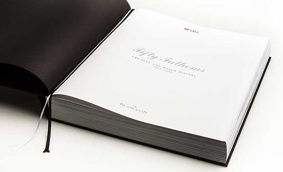 The Blancpain book recounting the history of diving and dive watches