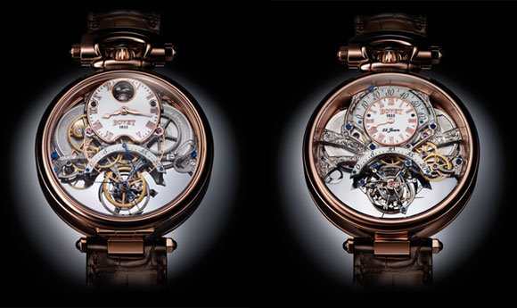 Front and back views of the Bovet Amadeo Fleurier Braveheart