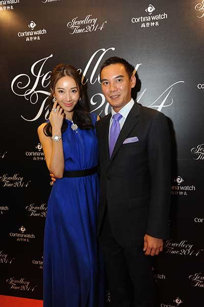 Jeremy Lim of Cortina Watches and actress Sonia Sui