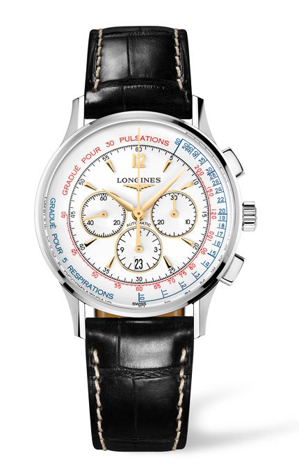 Le Longines Asthmometer Pulsometer Chronograph , ref. L2.787.4.16.0-2